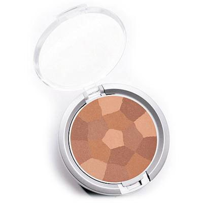 Physicians Formula | Powder Palette Multi-Colored Blush, Blushing Natural - Product slight angle top view with lid open on a white background