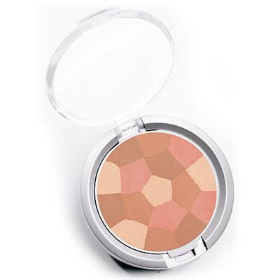 Physicians Formula | Powder Palette Multi-Colored Blush, Blushing Peach - Product slight angle top view with lid open on a white background