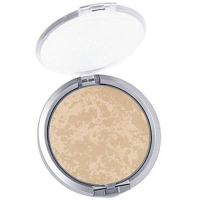 Physicians Formula | Mineral Wear Talc-Free Mineral Face Powder SPF 16 - Product front facing top view with lid open on a white background