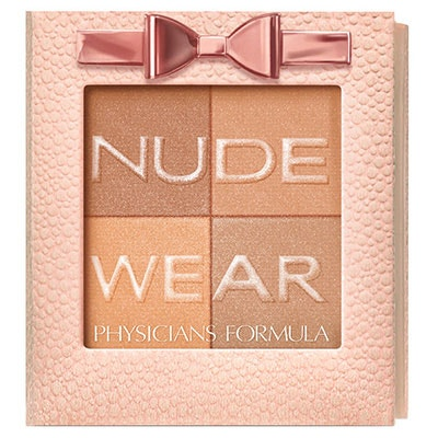 Physicians Formula   Nude Wear Glowing Nude Bronzer - Product front facing top view on a white background