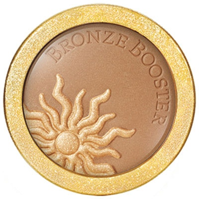 Physicians Formula | Bronze Booster 2-in-1 Glow Boosting Bronzer+Highlighter, Medium/Dark - Product front facing top view on a white background