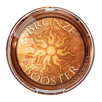 Physicians Formula | Bronze Booster Glow-Boosting Baked Bronzer, Light to Medium    - Product front facing top view on a white background