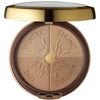Physicians Formula   Bronze Booster Glow-Boosting Season-to-Season Bronzer - Product front facing top view with lid open on a white background