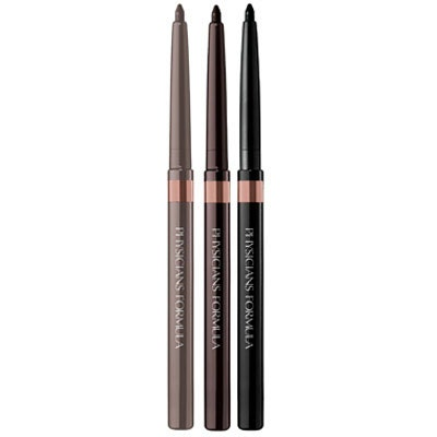 Physicians Formula | Shimmer Strips Custom Eye Enhancing Eyeliner Trio, Universal Looks, Nude Eyes - Products grouped front facing with caps off on a white background