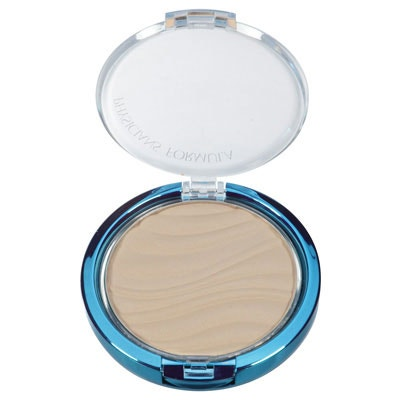 Physicians Formula | Mineral Wear Talc-Free Mineral Airbrushing Pressed Powder SPF 30, Creamy Natural  - Product front facing top view with lid open on a white background