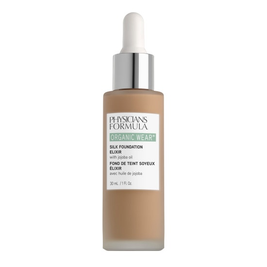 Physicians Formula | Organic Wear Silk Foundation Elixir- Medium-to-Tan - Product front facing on a white background