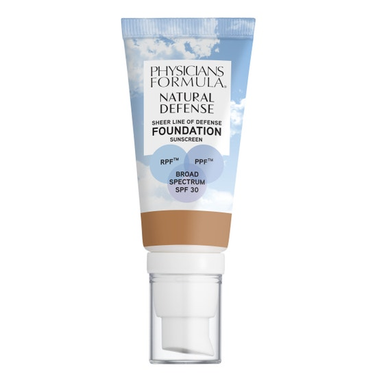 Physicians Formula   Natural Defense Sheer Line of Defense Foundation SPF 30- Medium - Product front facing on a white background