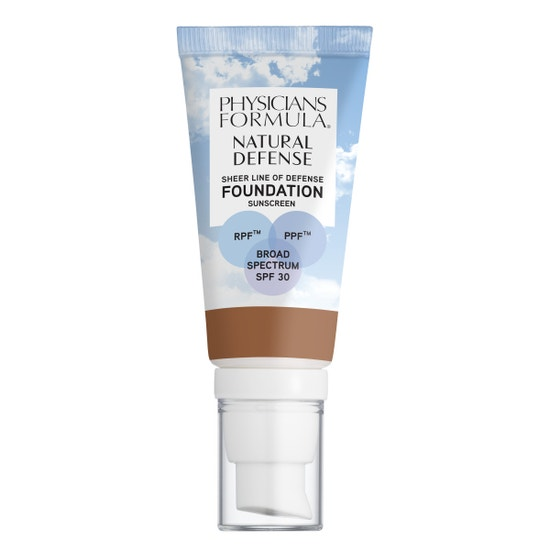 Physicians Formula   Natural Defense Sheer Line of Defense Foundation SPF 30- Tan-to-Deep - Product front facing on a white background