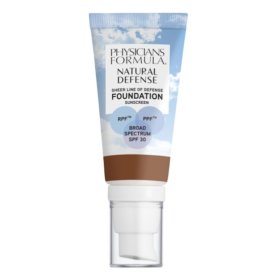 Physicians Formula | Natural Defense Sheer Line of Defense Foundation SPF 30-Deep Warm - Product front facing on a white background