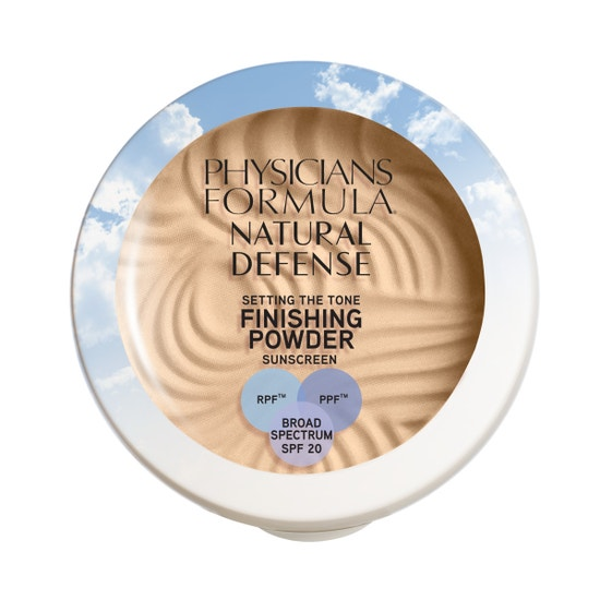 Physicians Formula | Natural Defense Setting the Tone Finishing Powder SPF 20- Light - Product front facing top view on a white background