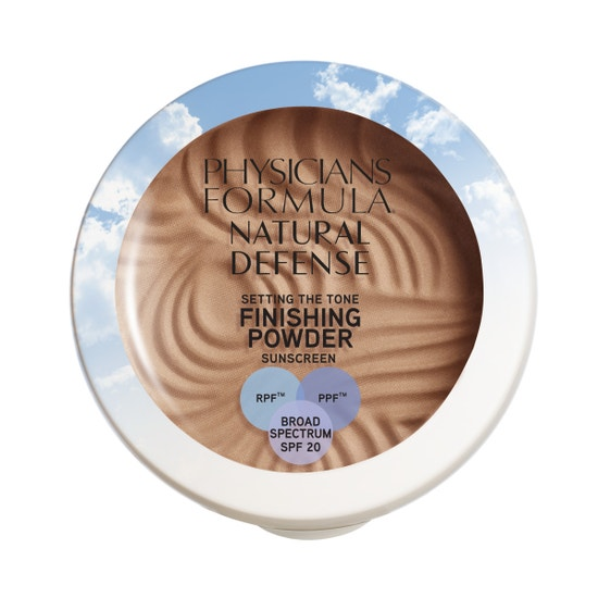 Physicians Formula | Natural Defense Setting the Tone Finishing Powder SPF 20- Medium - Product front facing top view on a white background
