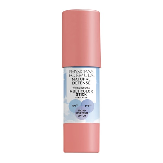 Physicians Formula | Natural Defense Triple Defense Multicolor Stick SPF 20- Soft Pink - Product front facing on a white background