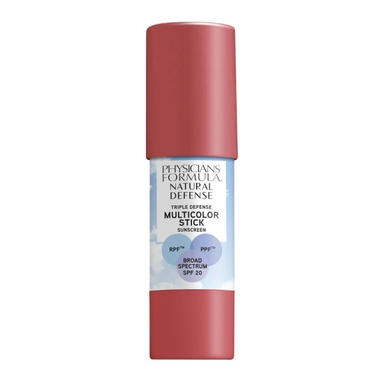 Physicians Formula | Natural Defense Triple Defense Multicolor Stick SPF 20- Natural Rose - Product front facing on a white background
