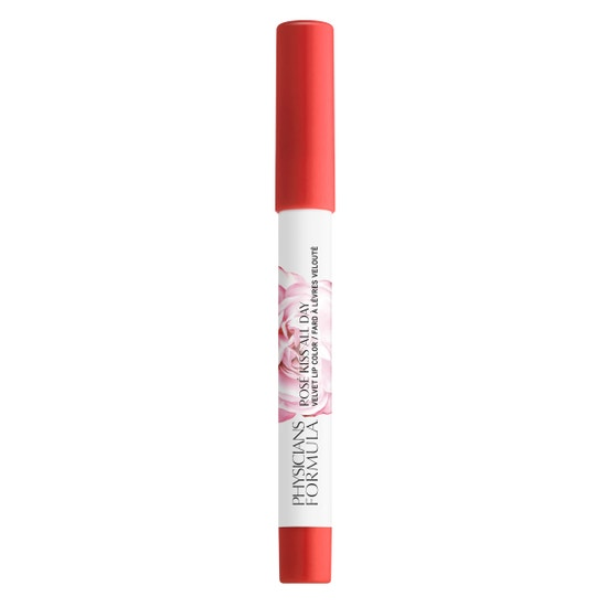 Rosé Kiss All Day Velvet Lip Color- Hot Lips   Physicians Formula - Product front facing cap fastened, with no background