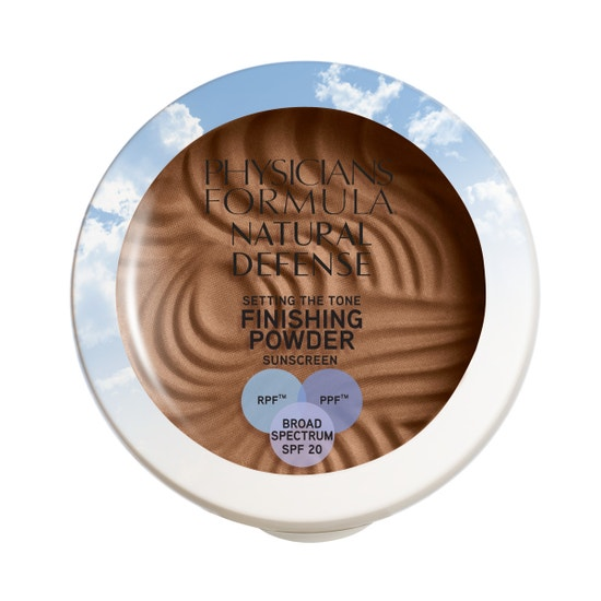 Physicians Formula | Natural Defense Setting the Tone Finishing Powder SPF 20- Medium/ Deep - Product front facing top view on a white background
