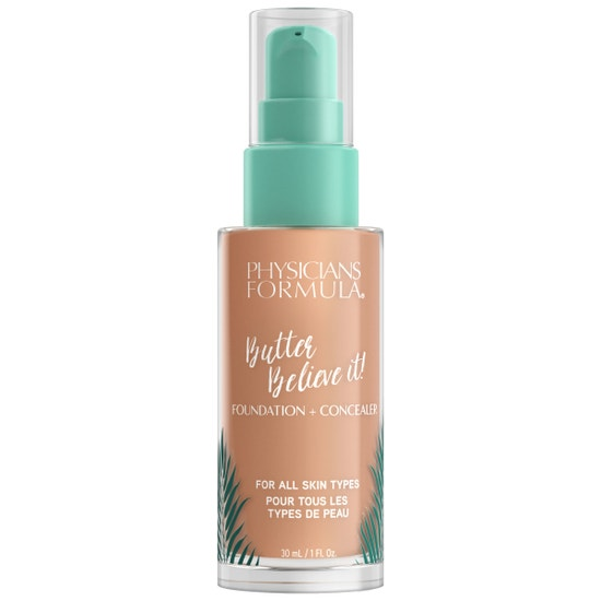 Butter Believe It! Foundation + Concealer -  Medium-to-Tan Physicians Formula | Product front facing cap fastenend, with no background