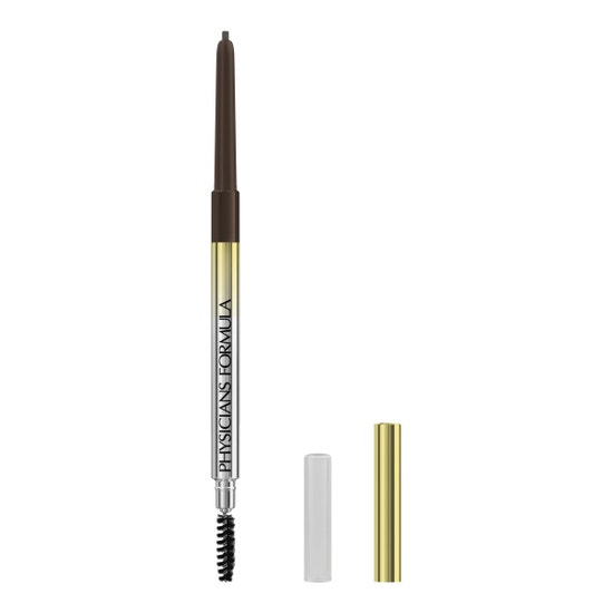 Slim Brow Pencil | Physicians Formula - Medium Brown| Product front facing caps removed, with no background