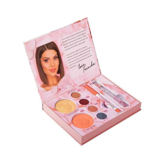 Physicians Formula | Rose All Day X Exteriorglam Collection - Product front facing slight angle top view with lid open on a white background