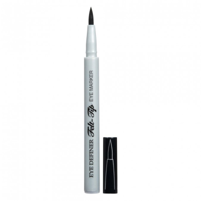 Physicians Formula   Eye Definer Felt Tip Eye Marker - Ultra Black,  - Product front facing with cap off on a white background