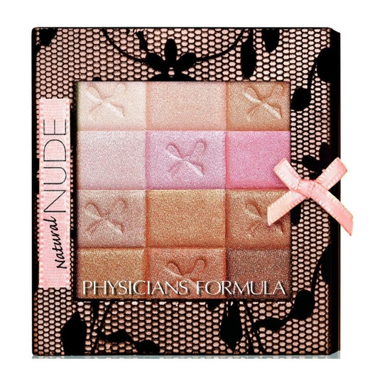 Physicians Formula | Shimmer Strips All-in-1 Custom Nude Palette for Face & Eyes - Product front facing top view on a white background
