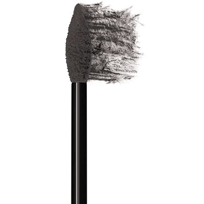Physicians Formula | Eye Booster Feather Brow Fiber & Highlighter Duo-Black, Black  - Product tip smudging the contents material on the white background