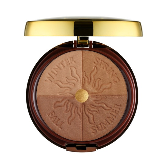 Physicians Formula | Bronze Booster Glow-Boosting Season-to-Season Bronzer , Medium to Dark - Product front facing top view with lid open on a white background