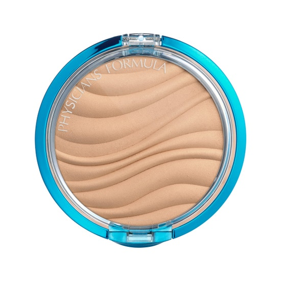 Physicians Formula | Mineral Wear Talc-Free Mineral Airbrushing Pressed Powder SPF 30 - Product front facing top view on a white background