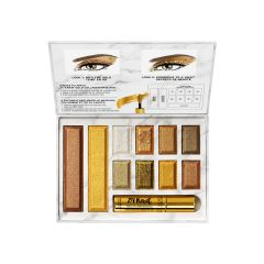 Physicians Formula | 24-Karat Gold Collagen Face Palette - Product front facing top view with lip open on a white background