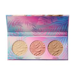 Physicians Formula | Murumuru Butter Glow Face Palette - Product front facing top view with lip open on a white background