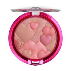 Physicians Formula | Happy Booster Glow & Mood Boosting Blush - Natural, Natural - Product front facing top view with lid open on a white background