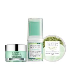 Physicians Formula | Matcha RefreshMint Skin Set - Products front facing cap fastened, with no background