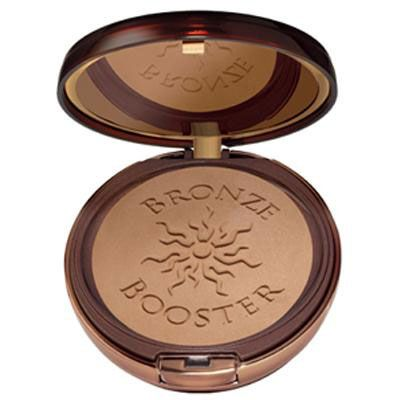 Physicians Formula | Bronze Booster Glow-Boosting Pressed Bronzer, Light to Medium - Product front facing top view with lid open on a white background