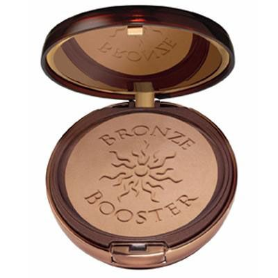 Physicians Formula | Bronze Booster Glow-Boosting Pressed Bronzer, Medium to Dark - Product front facing top view with lid open on a white background