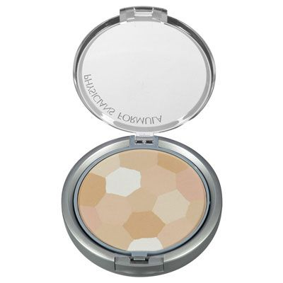 Physicians Formula | Powder Palette Multi-Colored Face Powder, Buff - Product front facing top view with lid open on a white background