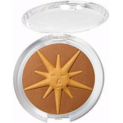 Physicians Formula | Summer Eclipse Bronzing & Shimmery Face Powder, Sunlight/Bronzer - Product front facing top view with lid open on a white background