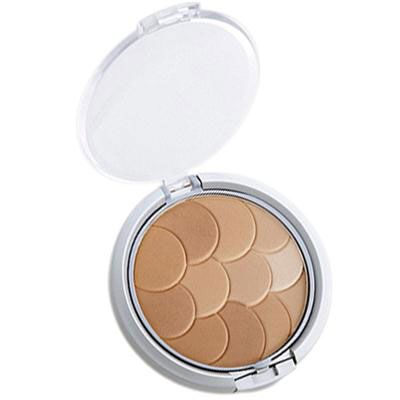 Physicians Formula | Magic Mosaic Multi-Colored Custom Pressed Powder - Product slight angle top view with lid open on a white background