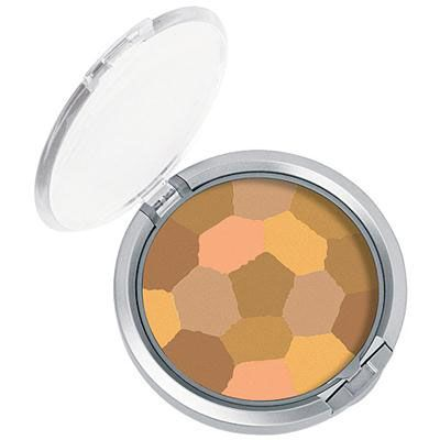 Physicians Formula | Powder Palette Multi-Colored Face Powder, Light Bronzer - Product front facing top view with lid open on a white background