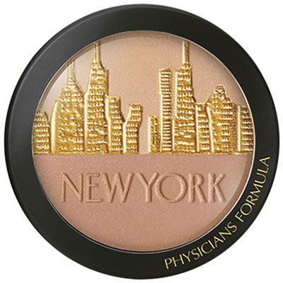 Physicians Formula   City Glow Daily Defense Bronzer SPF 30 - Product front facing top view on a white background
