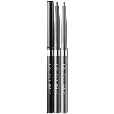 Physicians Formula | Shimmer Strips Custom Eye Enhancing Eyeliner Trio, Universal Looks - Smoky Eyes, Smoky Eyes - Products grouped front facing with caps off on a white background