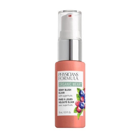 Physicians Formula | Organic Wear Dewy Blush Elixir - Gorgeous Peach - Product front facing on a white background