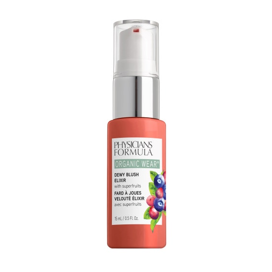 Physicians Formula | Organic Wear Dewy Blush Elixir - Apricot Glow - Product front facing on a white background