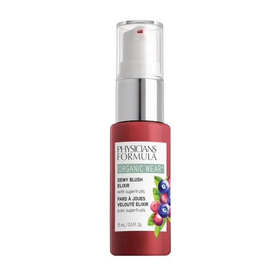 Physicians Formula | Organic Wear Dewy Blush Elixir - Crushed Berries - Product front facing on a white background
