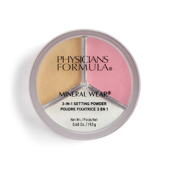 Physicians Formula | Mineral Wear 3-in-1 Setting Powder - Product front facing top view on a white background