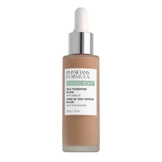Physicians Formula | Organic Wear Silk Foundation Elixir- Tan - Product front facing on a white background