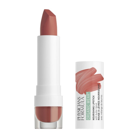 Physicians Formula | Organic Wear Nourishing Lipstick - Buttercup - Product front facing with cap off on a white background