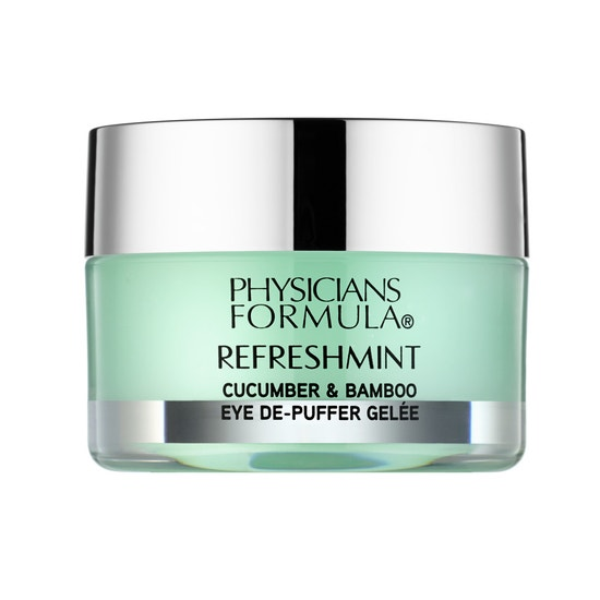 Physicians Formula   RefreshMint Cucumber & Bamboo Eye De-Puffer Gelee - Product front facing on a white background