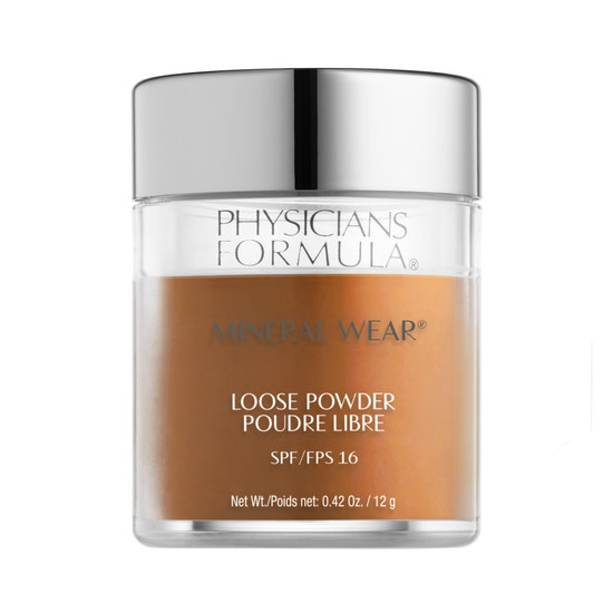 Physicians Formula | Mineral Wear Loose Powder SPF 16-Deep Cocoa - Product front facing on a white background