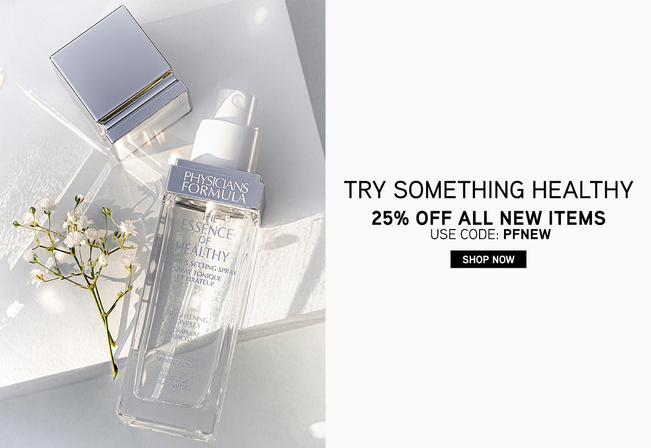 Try Something Healthy - 25% Off New Items Use Code: PFNEW | Shop Now | Physicians Formula | Product angled cap removed, with white background