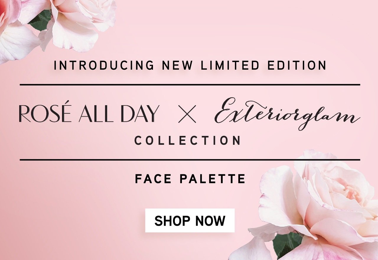 Physicians Formula | Introducing New Limited Edition Rose All Day X Exteriorglam Collection | Product open and closed with flowers in the background