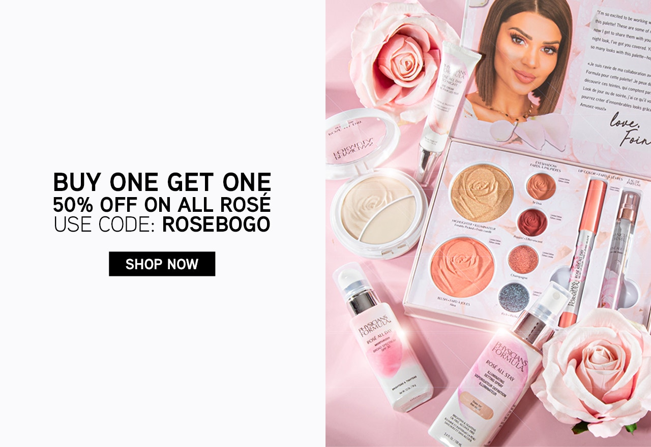 Physicians Formula | Buy One Get One 50% Off On All Rose | USE CODE: ROSEBOGO| CLICK HERE TO SHOP NOW